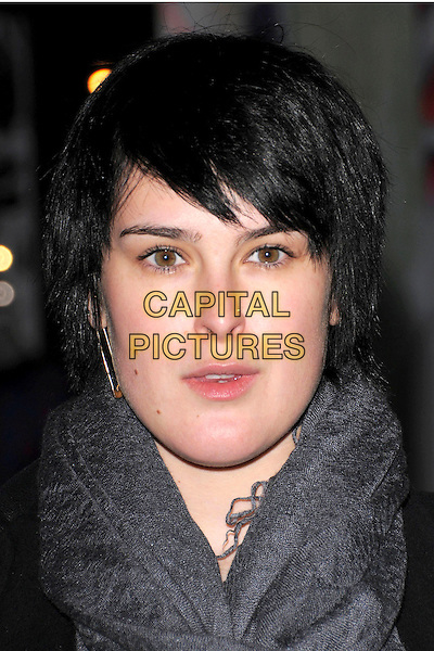 "RUMER WILLIS.Prada's Private Screening of the new Animated Short Fil ""Trembled Blossoms"" held at Prafa Beverly Hills Epicenter in Beverly Hills, California, USA..March 19th, 2008.headshot portrait grey gray scarf nose ring piercing .CAP/DVS.©Debbie VanStory/Capital Pictures."