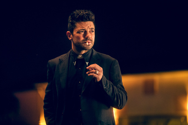 Dominic Cooper as Jesse Custer in Preacher, Season 2, Episode 2 - Photo Credit: Skip Bolen/AMC/Sony Pictures Television