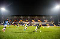 Wycombe warm up before the The Checkatrade Trophy  Quarter Final match between Mansfield Town and Wycombe Wanderers at the One Call Stadium, Mansfield, England on 24 January 2017. Photo by Andy Rowland.