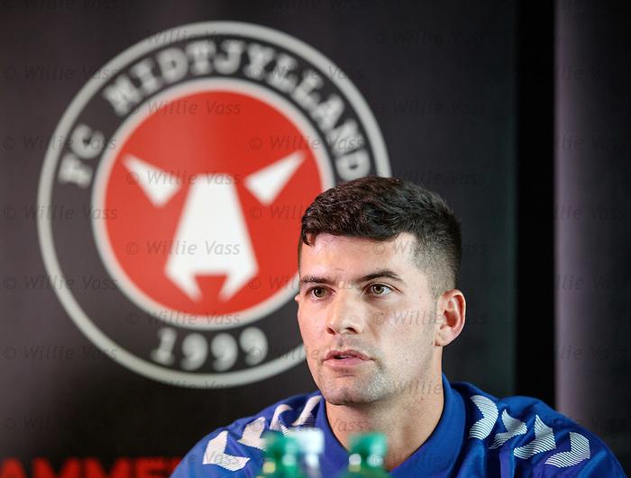 07.08.2019 FC Midtjylland and Rangers pressers: Jordan Jones