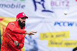 Misbah Ul-Haq of HKI United warming up during the Hong Kong T20 Blitz match between Kowloon Cantons and HKI United at Tin Kwong Road Recreation Ground on March 11, 2017 in Hong Kong, Hong Kong. Photo by Chris Wong / Power Sport Images