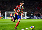 Stefan Savic of Atletico de Madrid in action during the La Liga 2017-18 match between Atletico de Madrid and Real Madrid at Wanda Metropolitano  on November 18 2017 in Madrid, Spain. Photo by Diego Gonzalez / Power Sport Images