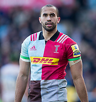 Harlequins' Aaron Morris<br /> <br /> Photographer Bob Bradford/CameraSport<br /> <br /> Aviva Premiership Round 14 - Harlequins v Wasps - Sunday 11th February 2018 - Twickenham Stoop - London<br /> <br /> World Copyright &copy; 2018 CameraSport. All rights reserved. 43 Linden Ave. Countesthorpe. Leicester. England. LE8 5PG - Tel: +44 (0) 116 277 4147 - admin@camerasport.com - www.camerasport.com