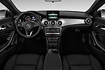 Stock photo of straight dashboard view of a 2018 Mercedes Benz GLA GLA250 5 Door SUV