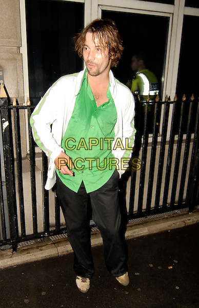 JAY KAY - JAMIROQUAI.At Kabaret, London, UK..September 11th, 2006.Ref: SW.full length drunk pissed intoxicated white jacket green shirt wet .www.capitalpictures.com.sales@capitalpictures.com.©Stephen Walters/Capital Pictures.