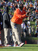 Virginia Cavaliers head coach Mike London reacts to a play during the game against Maryland in Charlottesville, Va. Maryland defeated Virginia 27-20.