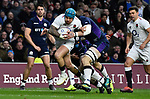 16.03.2019 Guinness Six Nations International Rugby England Vs Scotland at RFU Twickenham Stadium UK<br /> Jack Nowell run ons and scores a try for England The match was tied 38-38