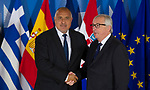 Belgium, Brussels - June 24, 2018 -- Informal working meeting on migration and asylum issues convened by Jean-Claude JUNCKER (ri), President of the European Commission, here welcoming Boyko BORISSOV (le), Prime Minister of Bulgaria-- Photo © HorstWagner.eu