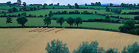 County Kilkenny, Ireland<br /> Summer pastures and hay fields in the valley of River Barrow