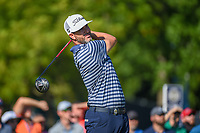 Scott Piercy (USA) watches his tee shot on 12 during 1st round of the 100th PGA Championship at Bellerive Country Cllub, St. Louis, Missouri. 8/9/2018.<br /> Picture: Golffile | Ken Murray<br /> <br /> All photo usage must carry mandatory copyright credit (© Golffile | Ken Murray)