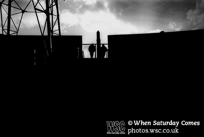 Leaving the Holgate End at full time. Boro 2 Derby County 4, 18th March 1995. Photo by Paul Thompson