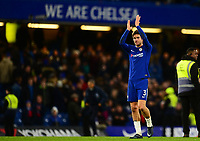 Marcos Alonso of Chelsea claps off the fans during the EPL - Premier League match between Chelsea and Brighton and Hove Albion at Stamford Bridge, London, England on 26 December 2017. Photo by PRiME Media Images.