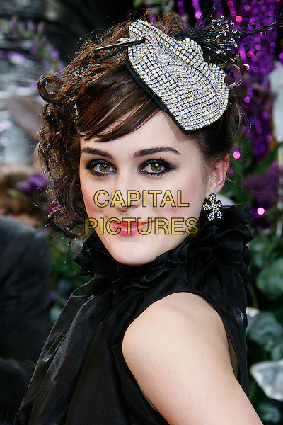 LOUI BATLEY.The British Soap Awards 2008 BBC Television Centre, Wood Lane, London, England. .May 3rd, 2008.headshot portrait diamante jewel encrusted hat black .CAP/DAR.©Darwin/Capital Pictures.
