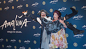 London, UK. 19 January 2016. Cirque du Soleil clowns Gabriella Argento and Pavel Mikhaylov. Celebrities arrive on the red carpet for the London premiere of Amaluna, the latest show of Cirque du Soleil, at the Royal Albert Hall.