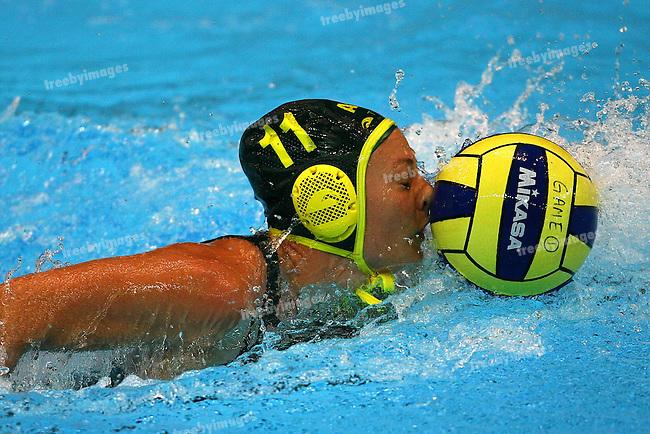 Fina World Swimming Championships Melbourne 2007. Water Polo Australia v Canada , Melissa Rippon nose where the goals are !!