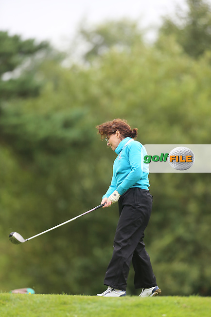 Heather Mitchell (Strabane) during the Ulster Mixed Foursomes Final, Shandon Park Golf Club, Belfast. 19/08/2016<br /> <br /> Picture Jenny Matthews / Golffile.ie<br /> <br /> All photo usage must carry mandatory copyright credit (© Golffile | Jenny Matthews)