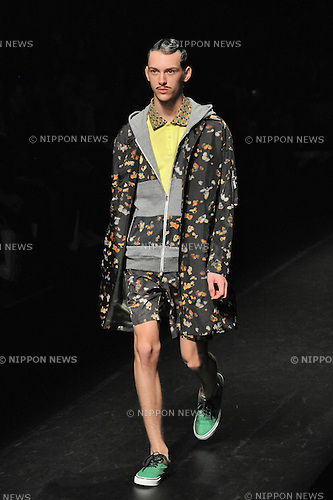 October 17th, 2013, Tokyo, Japan -  Spring/Summer 2014 Collection of Japanese fashion brand yoshio kubo on October 17, 2013, in Tokyo.