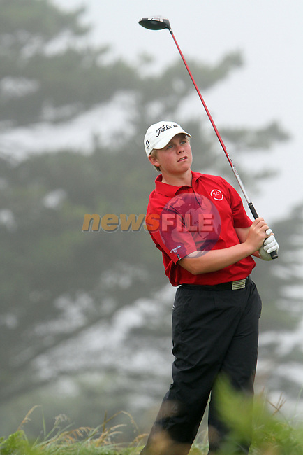 Otto Mand (WALES) on the 11th tee at the 2012 Boys Home Internationals at Co.Louth Golf Club in Baltray, Co.Louth...(Photo credit should read Jenny Matthews/NEWSFILE)...
