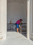 Restoring a crypt in Havana's grand cemetery