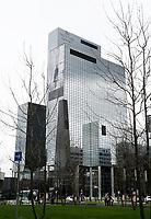 Nederland Rotterdam 2017 . De Delftse Poort. Het Gebouw Delftse Poort aan het Weena in het centrum van Rotterdam was tot mei 2009 het hoogste kantoorgebouw en de derde hoogste wolkenkrabber van Nederland. Het is in 1991 gebouwd, is 151 m hoog en heeft 41 verdiepingen. Het is ontworpen door Abe Bonnema. Foto Berlinda van Dam / Hollandse Hoogte