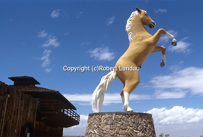 Statue of Trigger in front of the Roy Rogers Museum in Victorville, CA