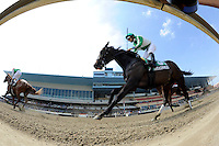 Scenes from around the track on Jerome Stakes Day on April 21, 2012 at Aqueduct Race Track in Ozone Park, New York.  (Bob Mayberger/Eclipse Sportswire)