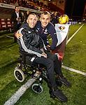 Fernando Ricksen with Stevie Walker from Rangers before the match