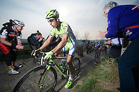 Peter Sagan (SVK/Cannondale) up the Paterberg (max 20%)<br /> <br /> 57th E3 Harelbeke 2014