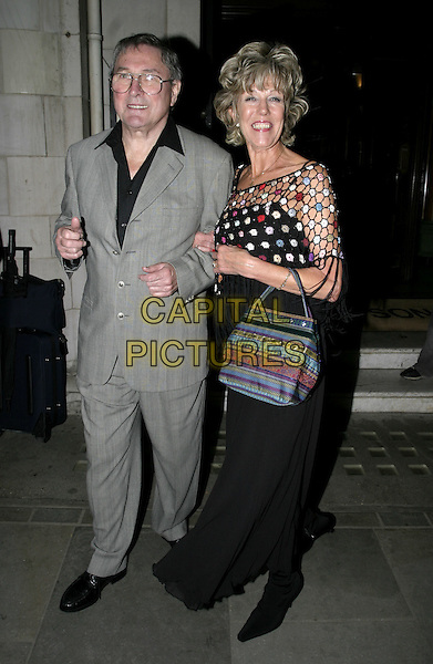 SUE NICHOLLS.Muderous Instincts press night party, Simpsons, The Strand, London, October 7th 2004..full length .Ref: AH.www.capitalpictures.com.sales@capitalpictures.com.©Capital Pictures.