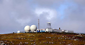 "Uist - Range Hebrides - The Radar Tracking Station on the summit of Rueval, South Uist which hosts the radomes, masts, that are part of the ""rocket"" range, once run by the UK Armed Forces and now controlled by QinetiQ on behalf of the Ministry of Defence - Picture by Donald MacLeod 20.08.09"