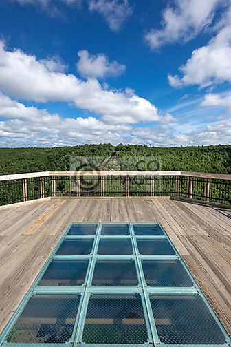 SKYWALK KINZUA BRIDGE STATE PARK MOUNT JEWETT MCKEAN COUNTY PENNSYLVANIA USA
