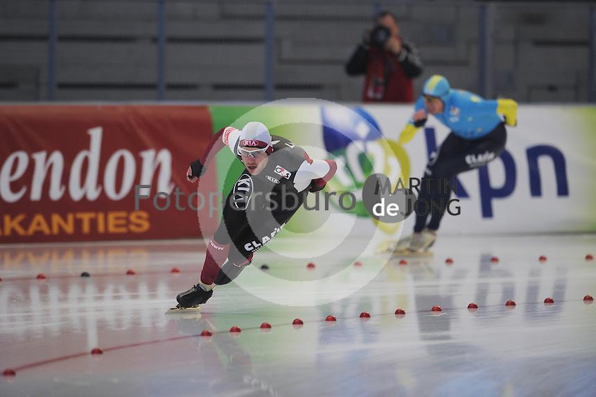 SCHAATSEN: INZELL: Max Eicher Arena, 10-02-2013, Essent ISU World Cup, Season 2012-2013, 1500m Men, B-division, Haralds Silovs (LAT), ©foto Martin de Jong