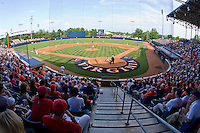 A crowd of 4,310 was on hand for the first game of the Charlottesville Regional of the 2010 College World Series at Davenport Field on June 4, 2010, in Charlottesville, Virginia.  The Cavaliers defeated the Rams 14-5.  Photo by Brian Westerholt / Four Seam Images
