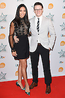 Karen Hauer and husband, Kevin Clifton<br /> arrives for the Good Morning Britain Health Star Awards 2016 at the Park Lane Hilton, London<br /> <br /> <br /> &copy;Ash Knotek  D3107 14/04/2016