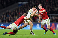 Sam Simmonds of England takes on the Wales defence. Natwest 6 Nations match between England and Wales on February 10, 2018 at Twickenham Stadium in London, England. Photo by: Patrick Khachfe / Onside Images