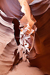 Slot canyon sculpted by water, Lower Antelope Canyon, Page, Arizona, AZ, USA