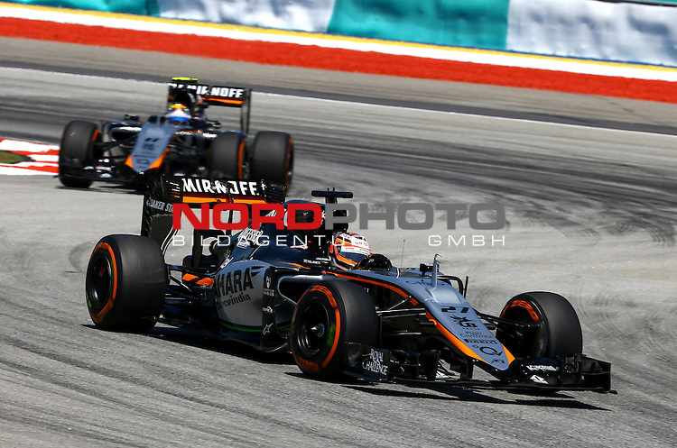 28.03.2011, Sepang-International-Circuit, Malaysia, MAL , Gro&szlig;er Preis von Malaysia / Kuala Lumpur, Training im Bild Nico Huelkenberg (GER), Force India Formula One Team<br /> for the complete Middle East, Austria &amp; Germany Media usage only!<br />  Foto &copy; nph / Mathis
