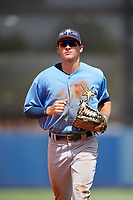 Tampa Bay Rays Beau Brundage (67) jogs back to the dugout during a Florida Instructional League game against the Baltimore Orioles on October 1, 2018 at the Charlotte Sports Park in Port Charlotte, Florida.  (Mike Janes/Four Seam Images)