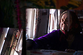 Maria, 78, a resettler at the radioactive exclusion zone at Chernobyl. <br /> <br /> 30 years on, the plant is still heavily contaminated, unfit for human life, but some villages defy government orders and returned to live inside the exclusion zone. <br /> <br /> The Chernobyl nuclear disaster happened on 26 April 1986.