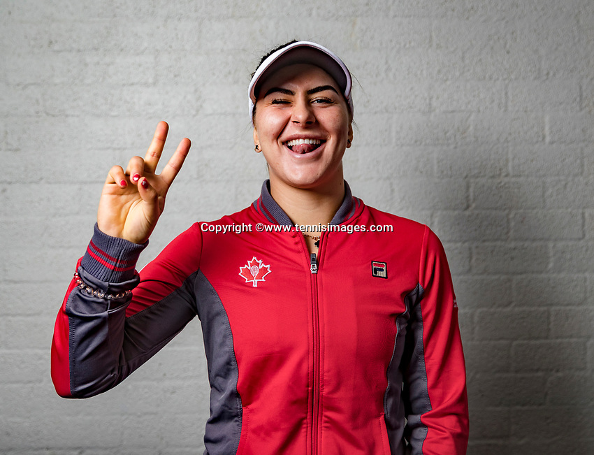 Den Bosch, The Netherlands, Februari 8, 2019,  Maaspoort , FedCup  Netherlands - Canada, Draw, Bianca Andreescu (CAN)<br /> Photo: Tennisimages/Henk Koster