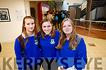 Jana Penkwitz, Caroline Lawrence, Veronica Gallejo, Castleisland Community College students, pictured at IT Tralee Open day on Friday last.