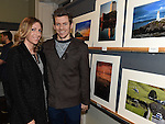 Kate Henry and Declan Keane pictured  at the opening of Mid-Louth Camera Club exhibition in the Market House Dunleer. Photo: Colin Bell/pressphotos.ie