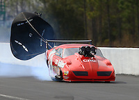 Mar 13, 2015; Gainesville, FL, USA; NHRA pro mod driver Peter Farber during qualifying for the Gatornationals at Auto Plus Raceway at Gainesville. Mandatory Credit: Mark J. Rebilas-
