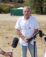 Pictured: Eddie Needham, the grandfather of missing Ben Needham in Kos, Greece. Wednesday 05 October 2016<br /> Re: Police teams led by South Yorkshire Police, searching for missing toddler Ben Needham on the Greek island of Kos have moved to a new area in the field they are searching.<br /> Ben, from Sheffield, was 21 months old when he disappeared on 24 July 1991 during a family holiday.<br /> Digging has begun at a new site after a fresh line of inquiry suggested he could have been crushed by a digger.