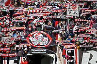 Rayo Vallecano's Bukaneros supporters during La Liga  match. February 24,2013.(ALTERPHOTOS/Alconada)