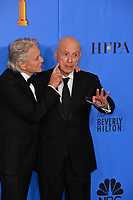 LOS ANGELES, CA. January 06, 2019: Michael Douglas & Alan Arkin at the 2019 Golden Globe Awards at the Beverly Hilton Hotel.<br /> Picture: Paul Smith/Featureflash