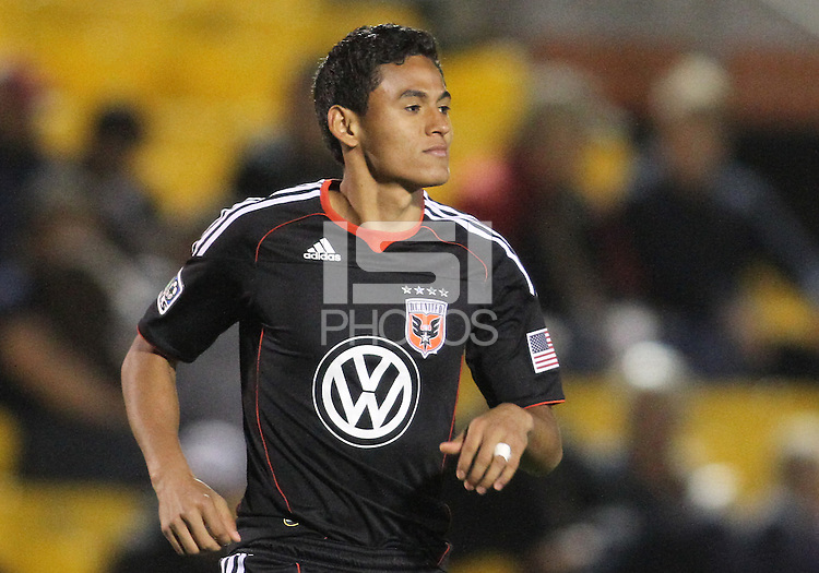 Andy Najar#14 of D.C. United enters the match during a second round match of the Carolina Challenge against the Chicago Fire on March 9 2011 at Blackbaud Stadium, in Charleston, South Carolina. D.C. United won 1-0.