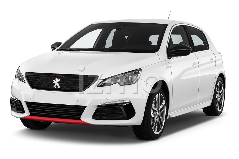 2018 Peugeot 308 GTi Base 5 Door Hatchback angular front stock photos of front three quarter view
