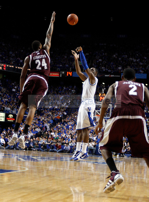 Terrence Jones makes a shot during the second half of the UK men's basketball 85-79 win over Mississippi State at Rupp Arena on Tuesday, Feb. 15, 2011.  Photo by Britney McIntosh | Staff