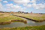Drainage ditches in marshland south of Aldeburgh, Suffolk, England